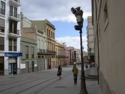 Tenerife transport tram ways towards Los Rhodeos airport