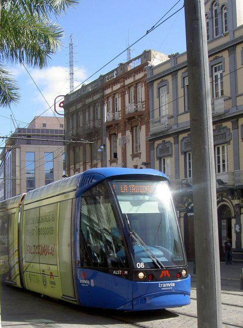 Tranvia Metro operated by Titsa Tenerife transport.