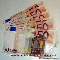 Unemployment benefits where payment by euros in Tenerife  is part of
