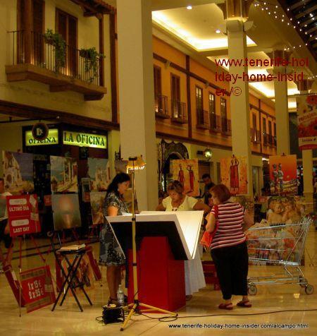 Village theme of shopping mall architecture at La Orotava
