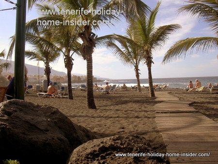 Volcanic beach Tenerife Playa Jardin