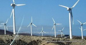 Windmills in South and East - proof of strong winds on the Teide Island.