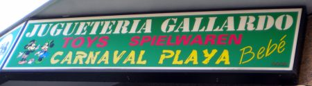 Yugueteria Gallardo Carnival Playa