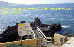 Zona peligrosa signpost for Danger zone Puerto de la Cruz Tenerife